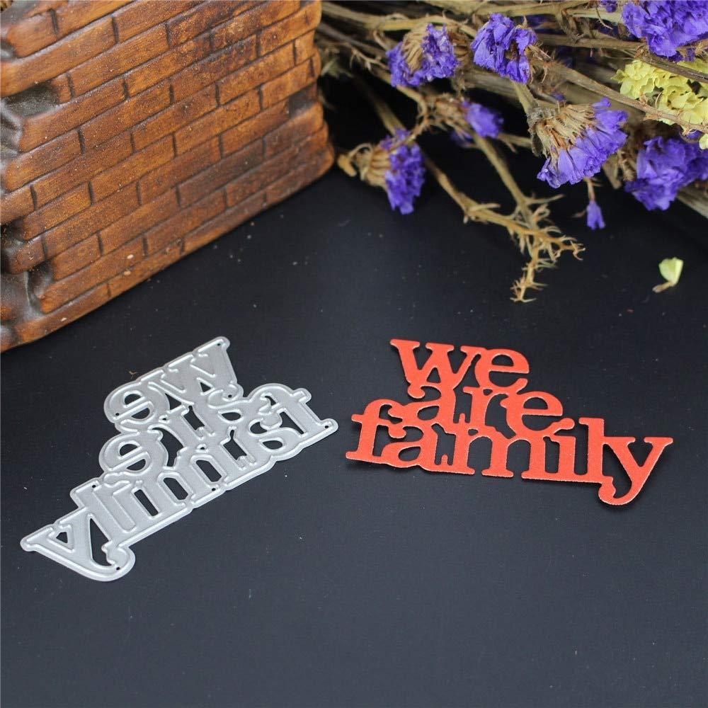 Handmade Diy Craft We Are Family Dies Cut Cutting Metal Decorative Create Embossing Scrapbooking Scrapbook Steel Stamp Paper Card Stencil