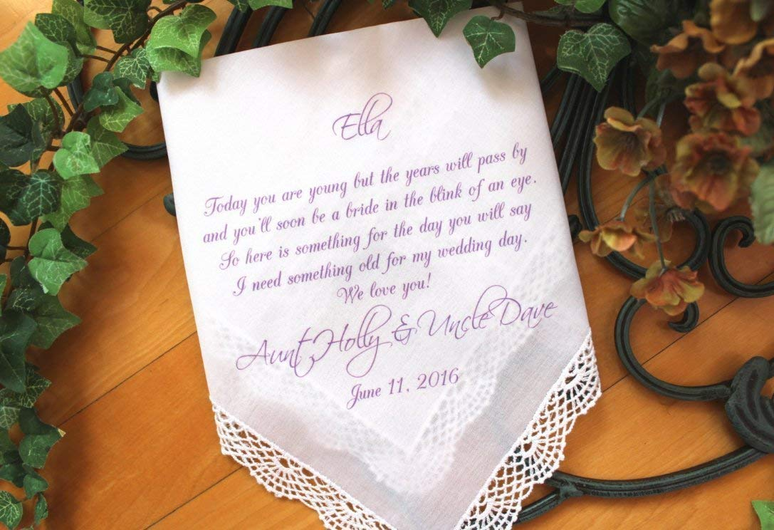Flower Girl Handkerchief, wedding Handkerchief-custom PRINTED-Personalized. Today you are YOUNG but the YEARS will pass. LS5FCAC by Snugahug[108]