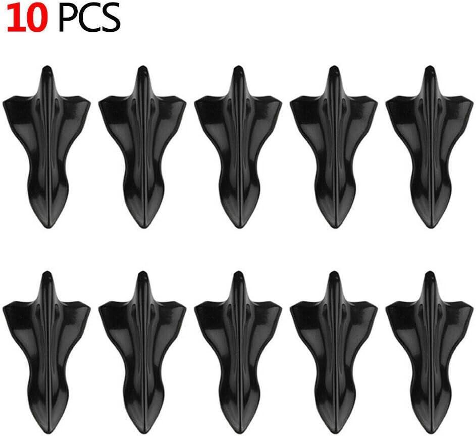 Top10 Racing Car Black Roof Shark Fin Spoiler Wing Vortex Generator Universal 10pcs//lot