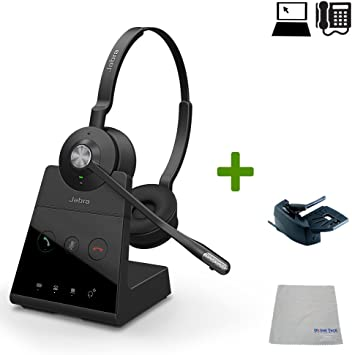 Amazon Com Jabra Engage 65 Wireless Headset Bundle Pc Deskphone Usb Lifter Meets Microsoft Skype For Business Open Office Requirements 13 Hour Battery Busy Light Connect 2 Devices Stereo Electronics