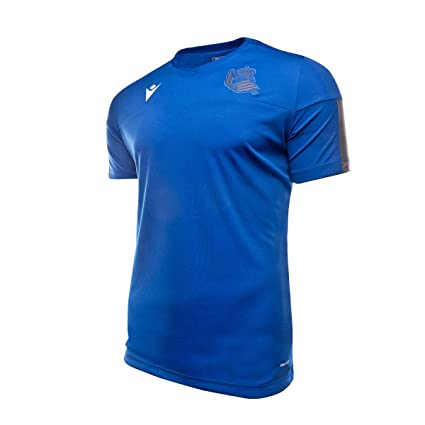 Macron Real Sociedad Training 2019-2020, Camiseta, Blue, Talla XL ...