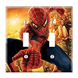 Dual Toggle Wall Switch Cover Plate Decor Wallplate - Spiderman