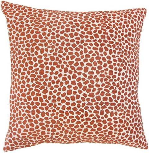 The Pillow Collection P18-BAR-M9641-CHILI-P100 Wihe Animal Print Pillow, Chili
