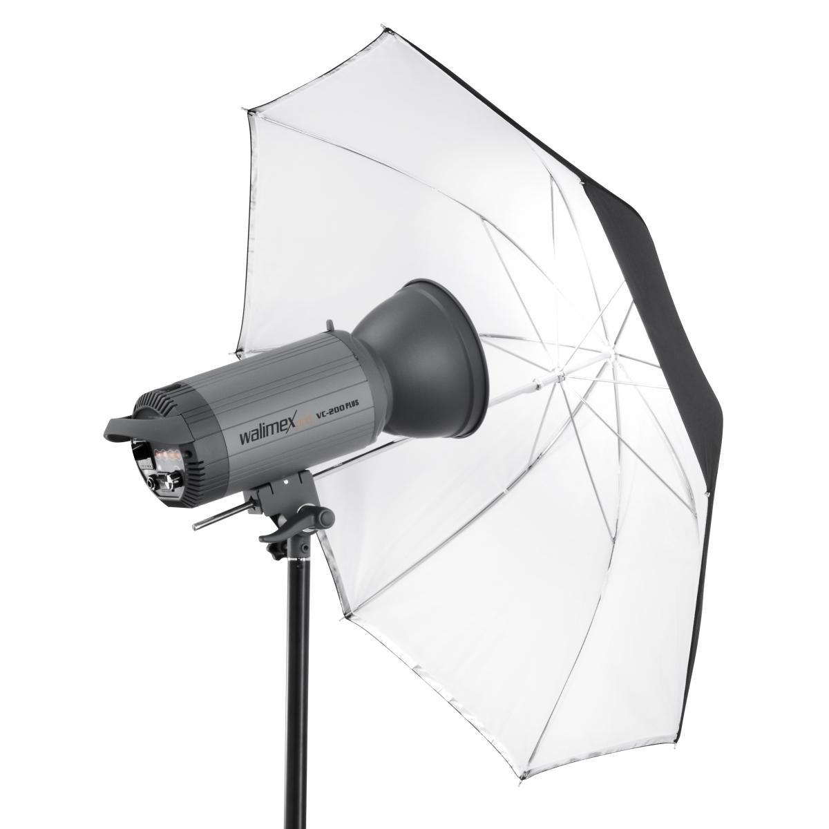 Walimex Pro - Paraguas 2 en 1 de 109 cm (transparente y réflex), blanco y negro: Amazon.es: Electrónica