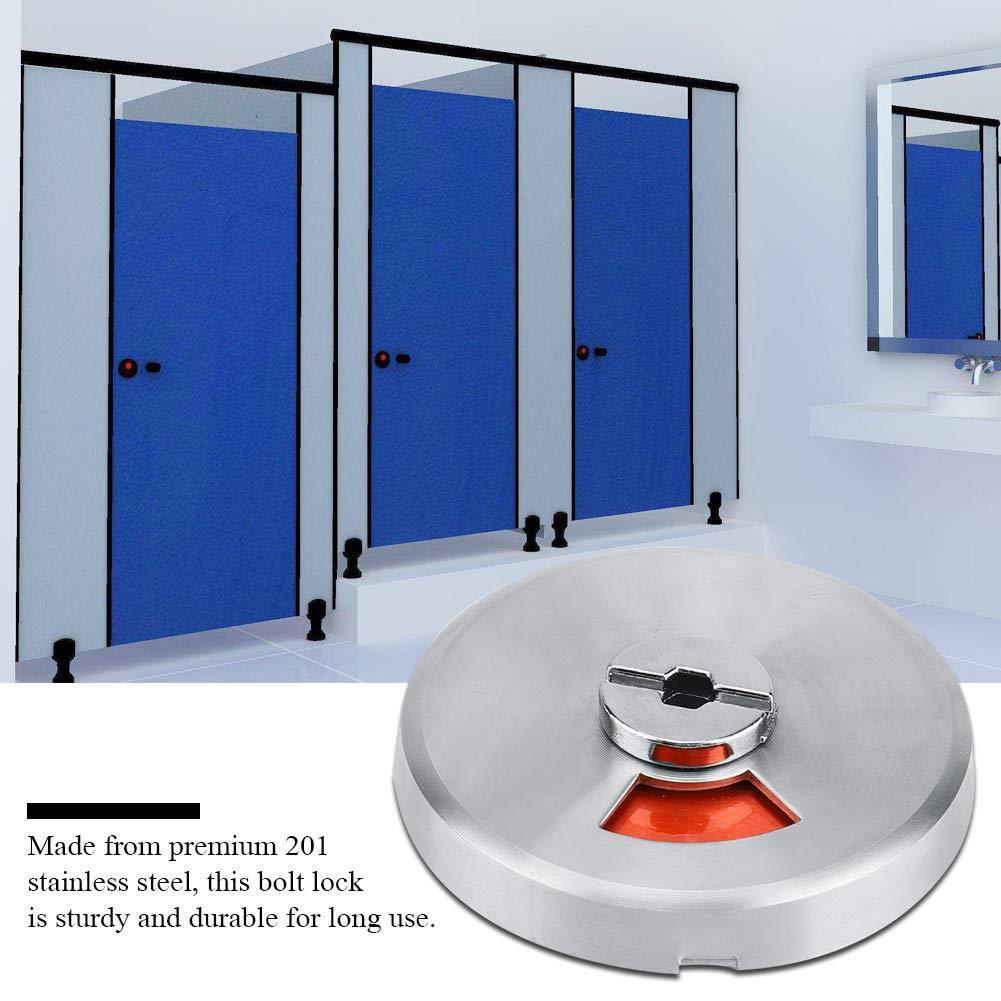 Garosa Rotation Verrou Loquets de Porte Verrou Indicateur Kit Loquet Boulon de Signalisation avec Indicateur de Vssage et Outil de Fixation /à Vis pour Salle de Bain WC Public Toilettes