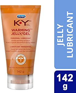 Personal Lubricant, K-Y Warming Jelly Personal Lube Tube, 5-Ounce Tubes (Pack of 2)