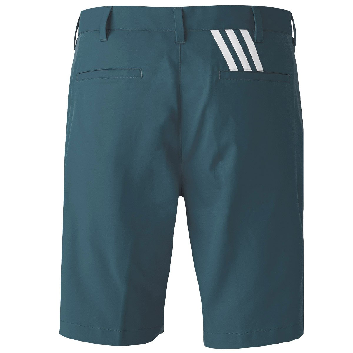 21602ace1 2016 Adidas Puremotion Stretch 3-Stripes Mens Golf Flat Front Shorts  Mineral Blue 30