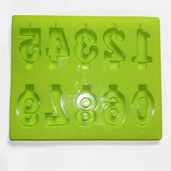 S7703 Set x 2 Number 0-9 Candle Birthday Tray /& Cone Shape Candle Moulds Molds