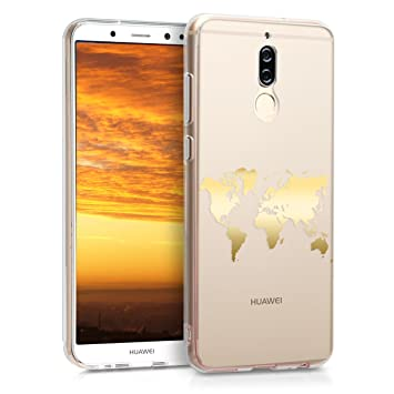finest selection 77120 58062 kwmobile TPU Case for Huawei Mate 10 Lite - Soft TPU Silicone Cover -  Crystal Clear Back Case IMD Design - Gold/Transparent