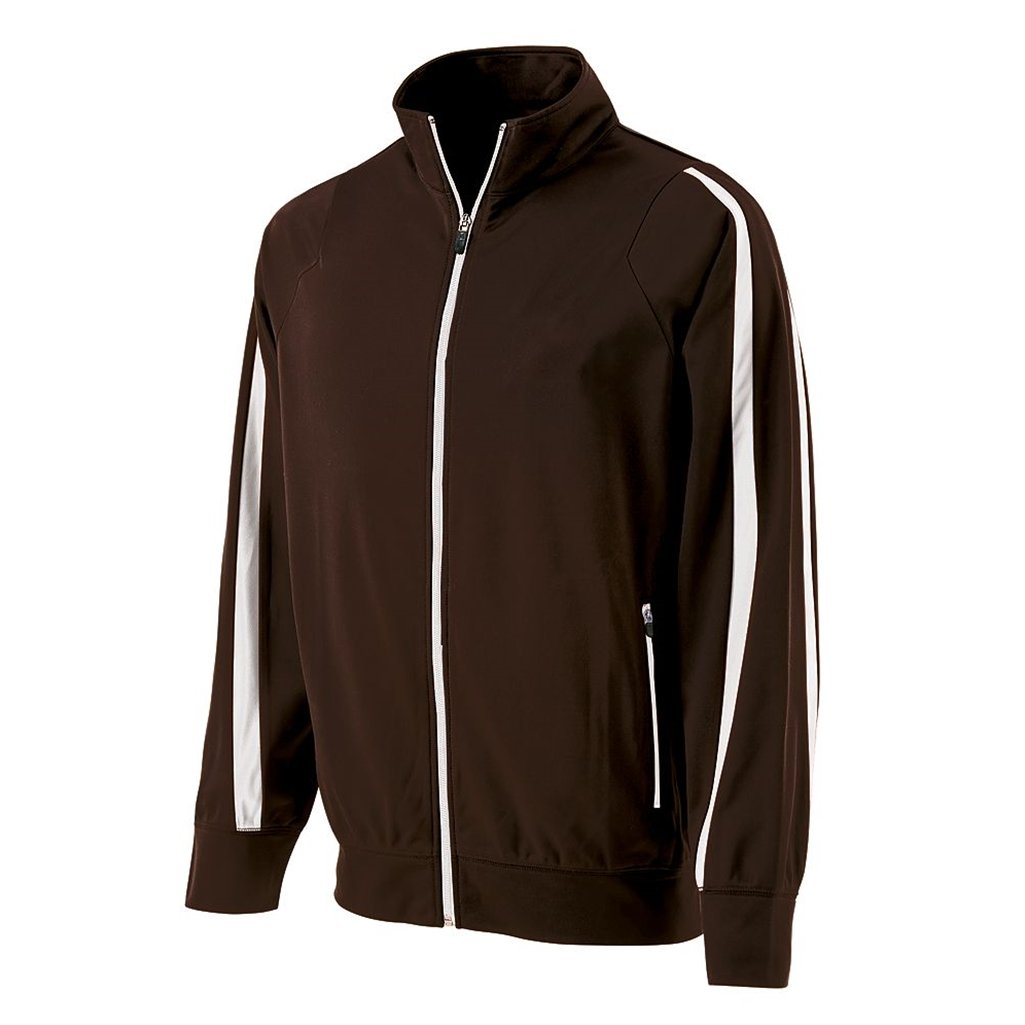 Holloway Youth Determination Jacket (Medium, Brown/White) by Holloway