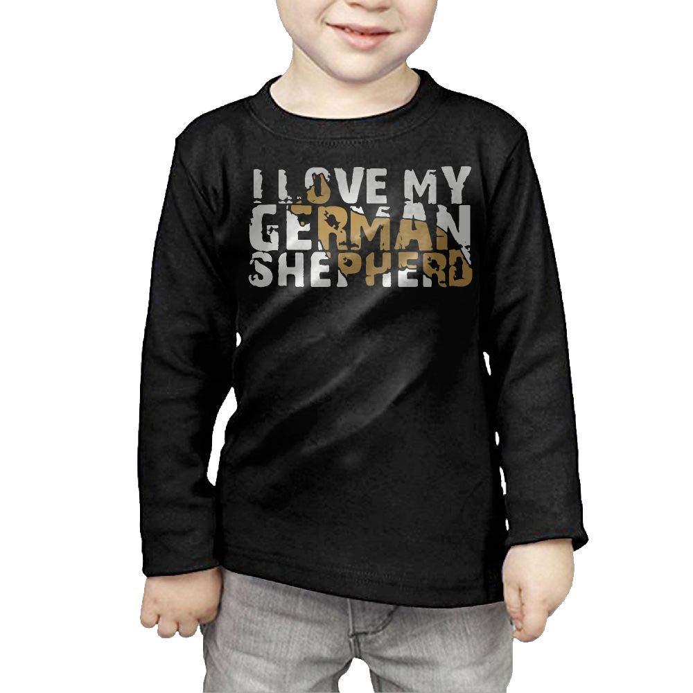 Toddler I Love My German Shepherd 1 ComfortSoft Long Sleeve Shirt