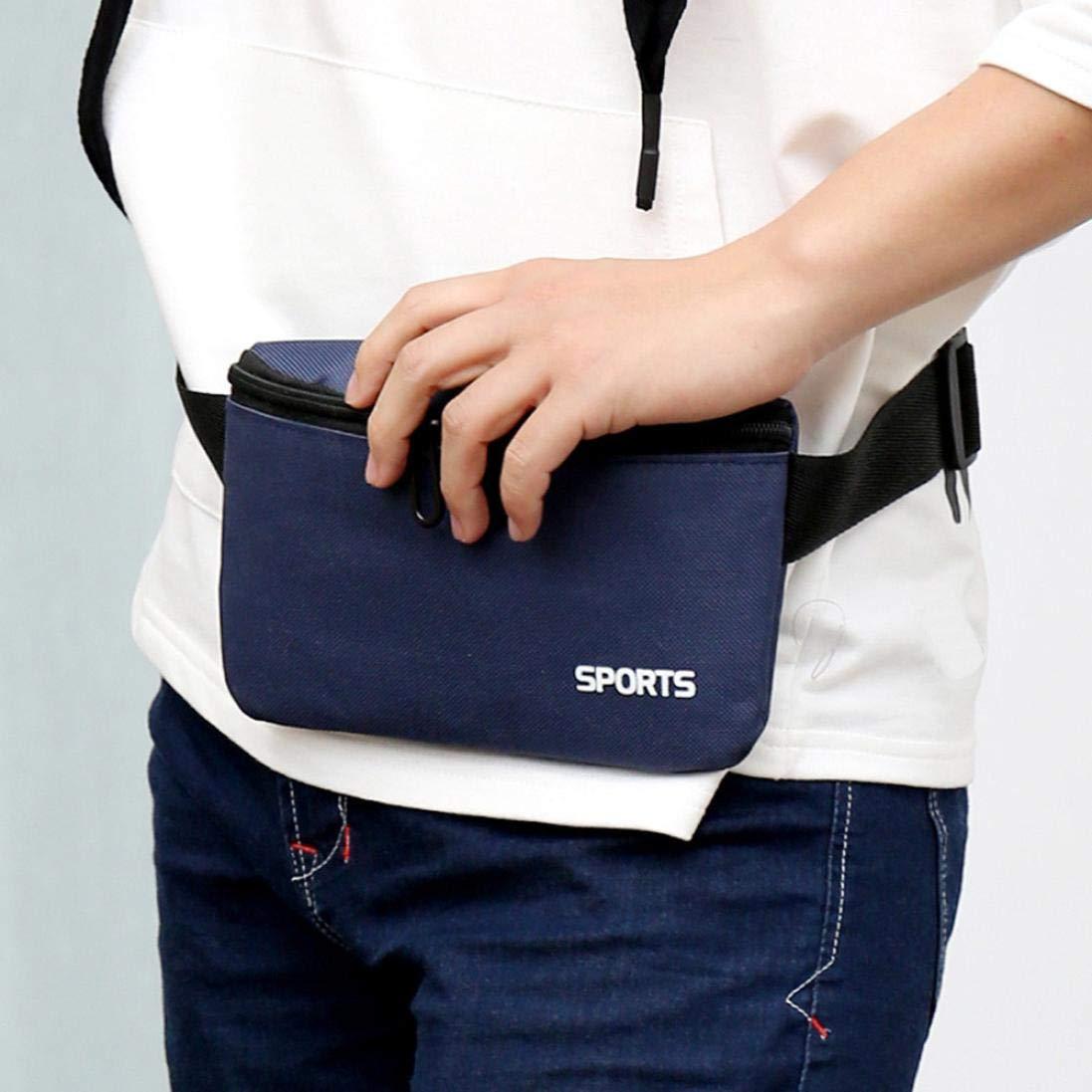 Anxinke Unisex Fashion Waist Packs Phone Bag Outdoor Sport Crossbody Bag Oxford Check Bag Yellow