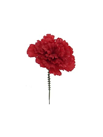 Amazon 100 carnations 5 burgundy artificial silk flower picks 100 carnations 5quot burgundy artificial silk flower picks 4quot diameter multple colors mightylinksfo