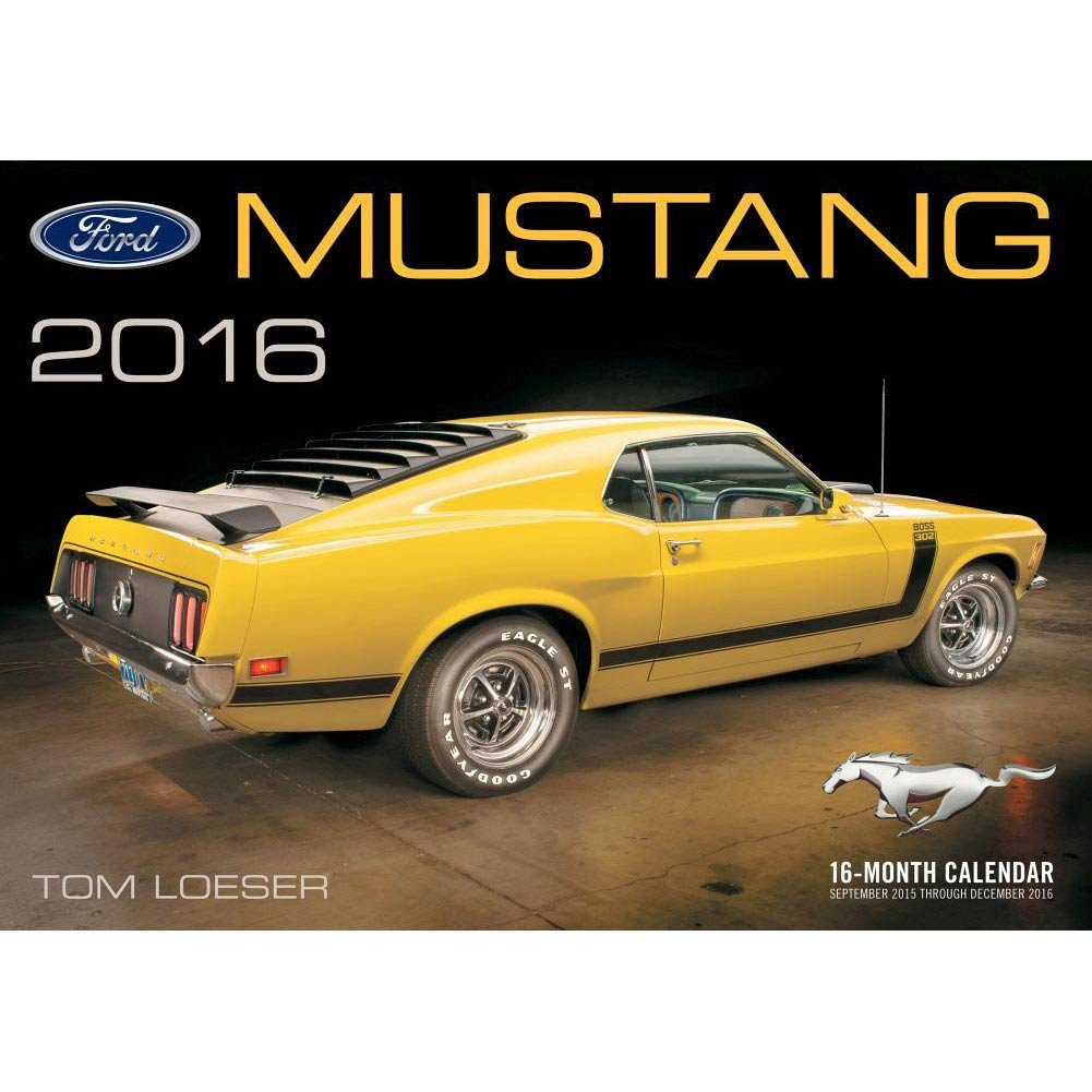 Amazon.com : Ford Mustang Wall Calendar by Motorbooks : Office Products
