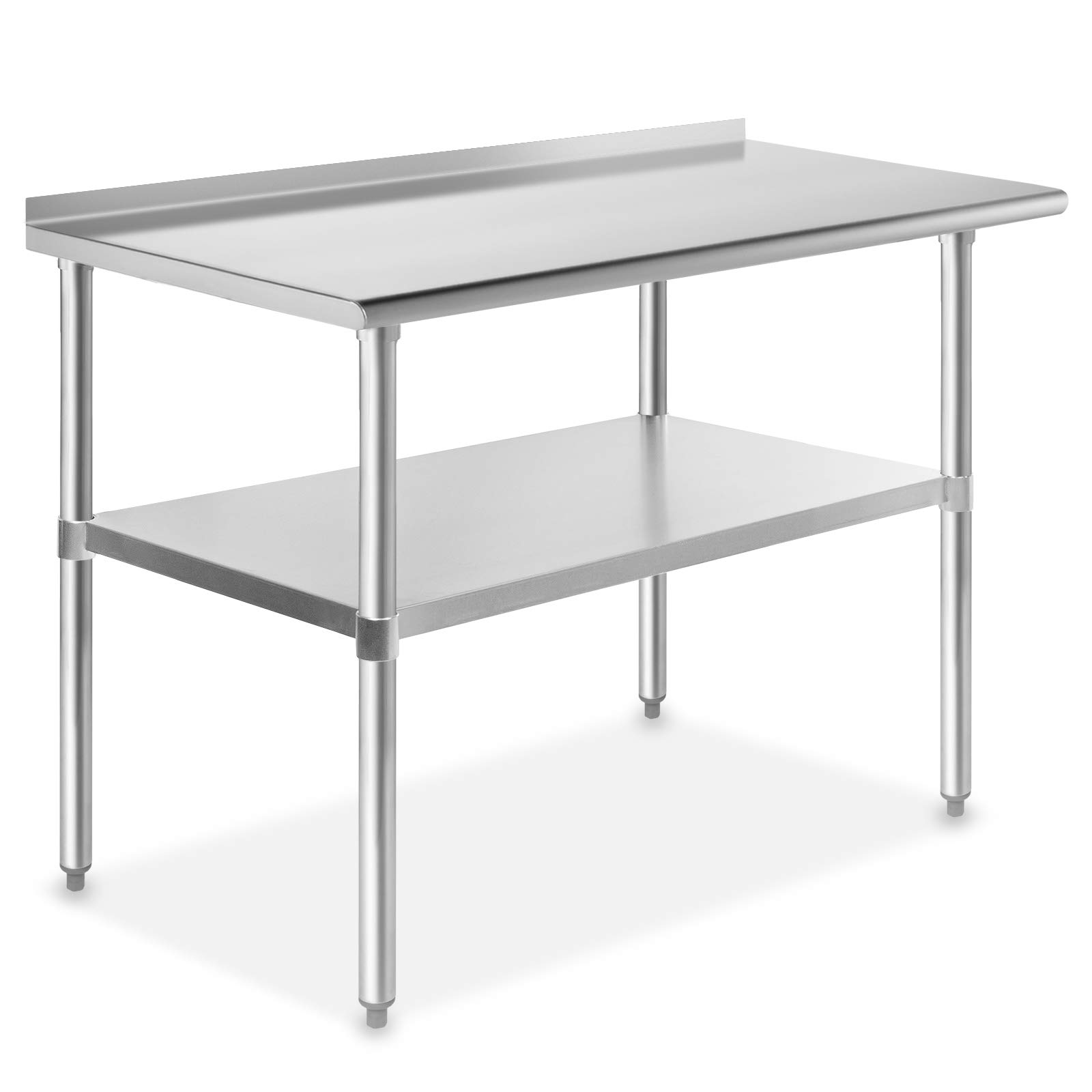 GRIDMANN NSF Stainless Steel Commercial Kitchen Prep & Work Table with Backsplash - 48 in. x 24 in. by GRIDMANN
