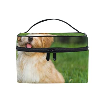 77ac5ff55719 Amazon.com : Makeup Train Cases Havanese Puppy Dog Travel Cosmetic ...