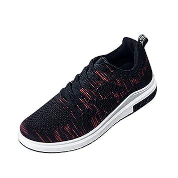 Zapatos planos casual para hombre,Zapatillas Hombre Light Sneakers Zapatos Casuals de malla transpirable Zapatos para correr al aire libre para caminar: ...