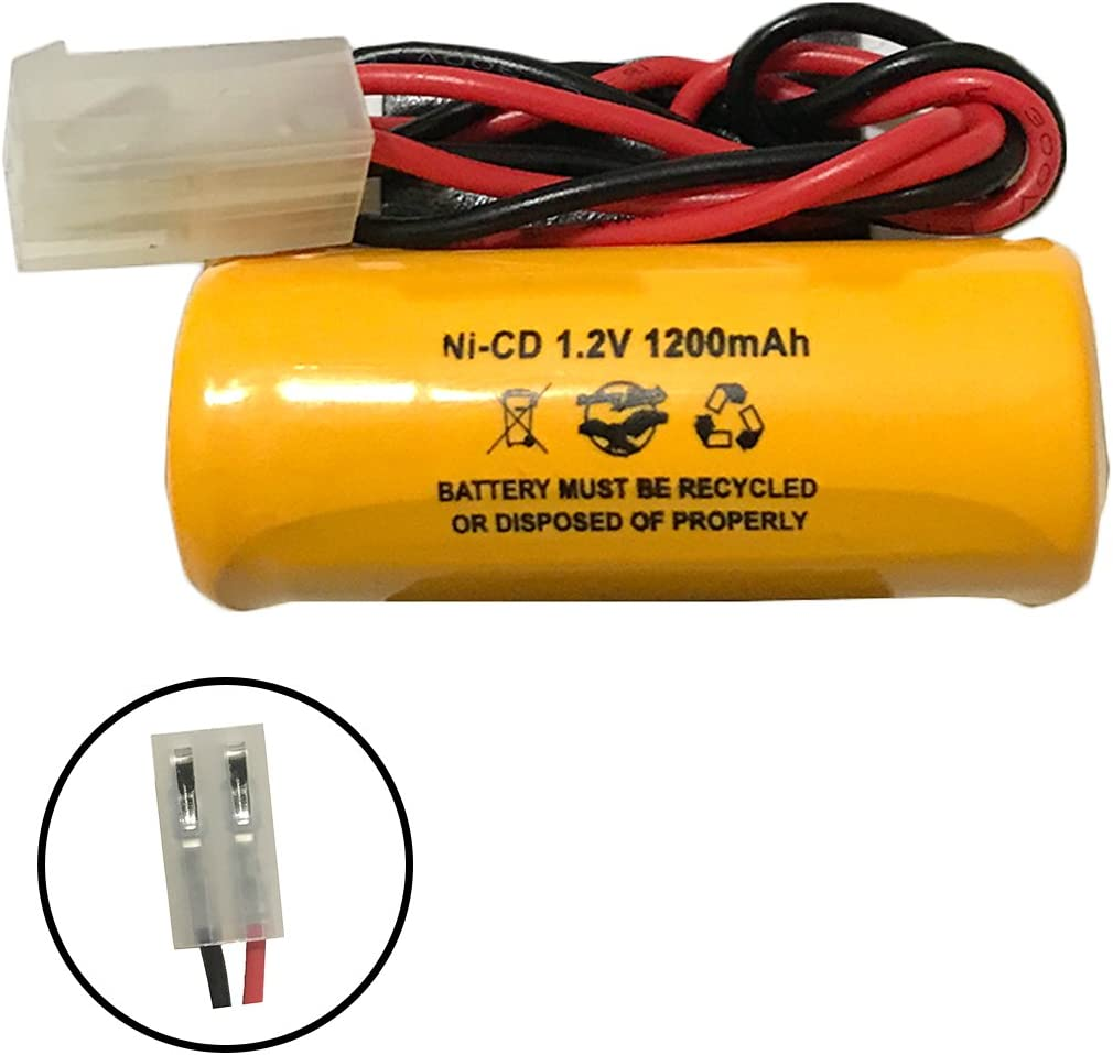 2 Pack Lithonia ELB1P201N1 ELB-1P201N1 1.2v 1200mAh Ni-CD Battery Pack Replacement for Exit Sign Emergency Light Lithonia ELB0300 ELB-0300