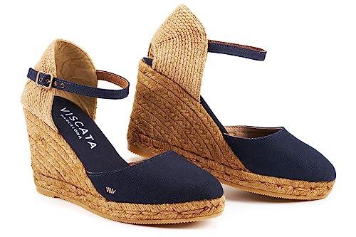 Satuna Cuña de 3 Pulgadas, Tobillera con Punta Cerrada, cuña clásica de Alpargatas: Amazon.es: Zapatos y complementos