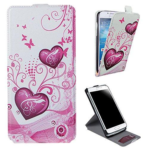 Xtra-Funky Exclusivo Cuero estilo del tirón cubierta de la caja de la carpeta con hermosas púrpura elegante floral de la flor y mariposas Diseños para Samsung Galaxy Note 3 - Diseño B30 B5