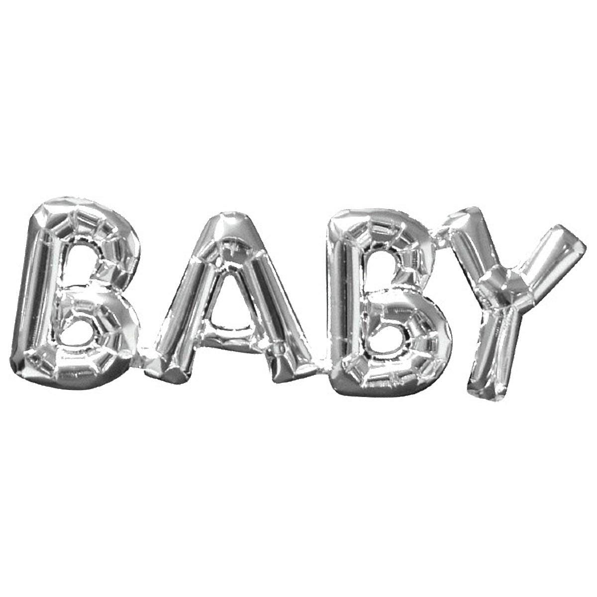 Party Decor Air-Filled Word BalloonBaby Silver 5 Ct Amscan 3310630
