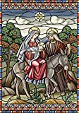 Toland Home Garden  Stained Glass Nativity 12.5 x 18-Inch Decorative USA-Produced Garden Flag