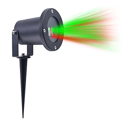Laser Light 8 Patterns in 1 Waterproof Cold Resistant, RF Remote Control, Outdoor and Indoor USE. Red and Green Star Laser Projector for Christmas