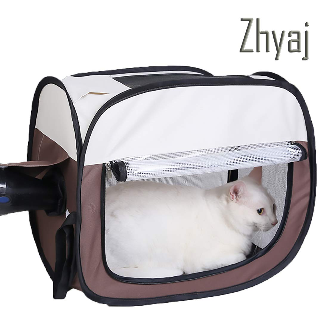 A Outdoor Dog Kennel, Foldable Portable Car Pet Carrier Drying Box 600D Oxford Cloth Large Dog House Dog Tent,A