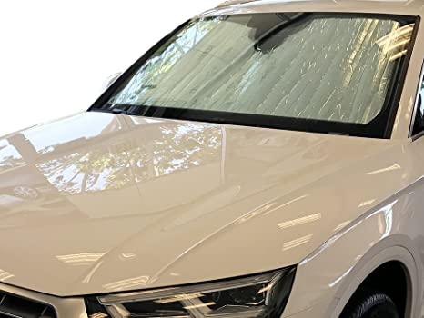 Intro-Tech AU-76-P Silver Custom Fit Premium Folding Windshield Sunshade for Select Audi S4 Models