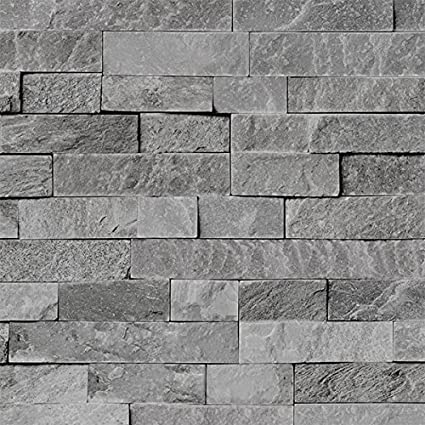 4 Pack of Dumapan SMP Valladolid Light Grey Brick Effect Wall Panel - 3D  Effect PVC Bathroom / Kitchen Wall Panels