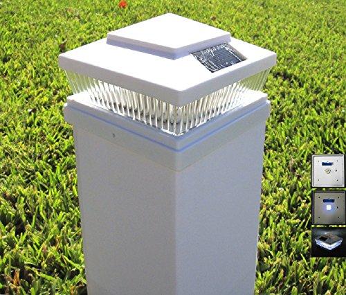 Plastic White 5 X 5 Outdoor 5 LED 78Lumens Solar Post Cap Light (pack of 12)