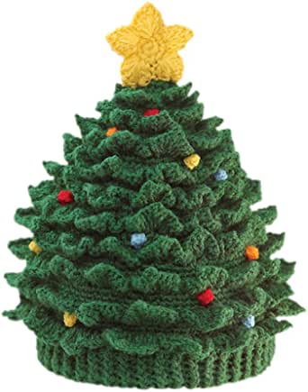 San Diego Hat Company Baby Chenille Christmas Tree Hat, Green