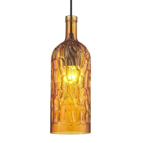 Lámparas de Botella, Simple Color Cafe Bar Lámparas de Cristal de una Sola Cabeza Araña