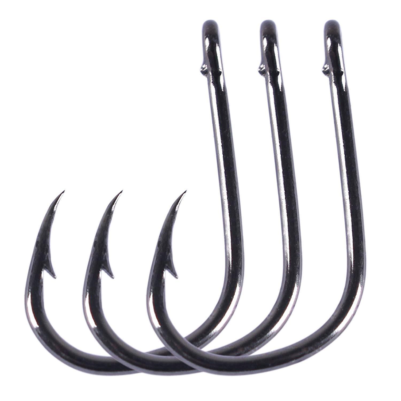 Anmuka 500pcs High Carbon Steel Fishing Hooks with 10 Sizes (B-500pcs) by Anmuka (Image #4)