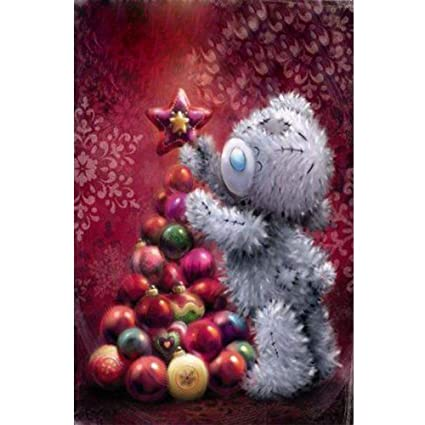 DIY 5D Diamond Painting,DIY Diamond Painting by Numbers Diamond Embroidery Dotz Kit Christmas Bear 11.8x15.7in 1 Pack By Lighting S Direct