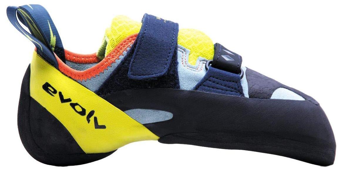Evolv Shakra Climbing Shoe - Aqua/Neon Yellow 9.5