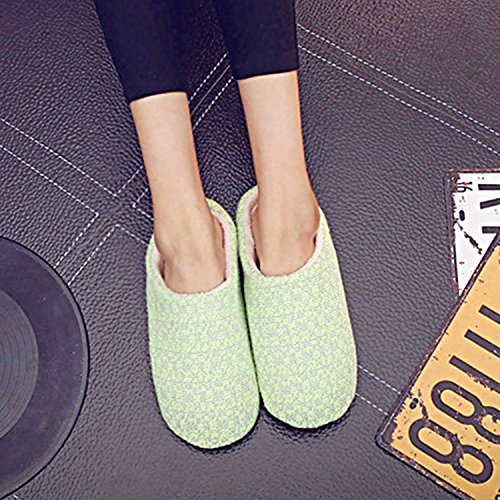 Sasairy 1 Pair Adult Winter & Autumn Home Anti-Slip Knit Cotton Slippers Full Toe Spa Slipper Color 4 PyT2wYL8Cm