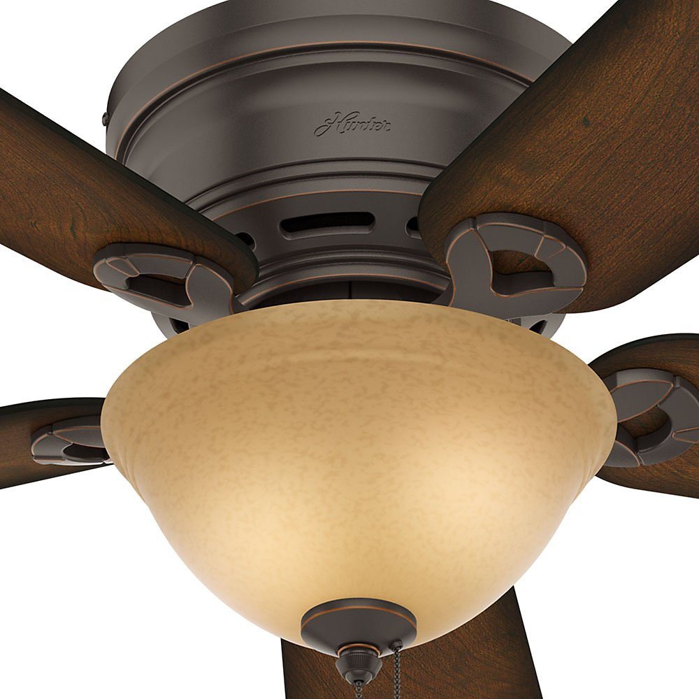 Hunter 51023 Conroy 42-Inch Onyx Bengal Ceiling Fan with Five Burnished Mahogany Blades and a Light Kit by Hunter Fan Company (Image #4)