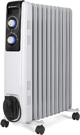 Orbegozo RF 2500, Radiador de Aceite, Construcción Modular de 11 Elementos, 2500 W, Blanco: Amazon.es: Hogar