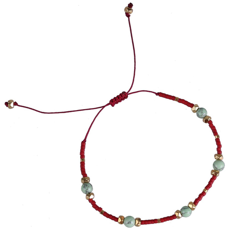 KELITCH Multicolor Shell pearl Beaded Friendship Bracelets Hand Woven Wrap Charm Bangle Jewelry AZX-17076BK