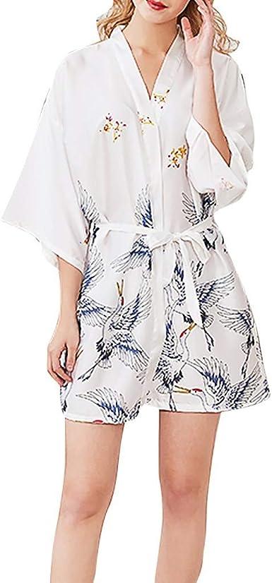 OPAKY Kimono Mujer Batas Cortos Lenceria de Aspecto Brillante ...