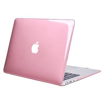 MOSISO Funda Dura Compatible MacBook Air 13 Pulgadas (A1369 / A1466, Versión 2010-2017), Ultra Delgado Carcasa Rígida Protector de Plástico Cubierta, Rosa ...