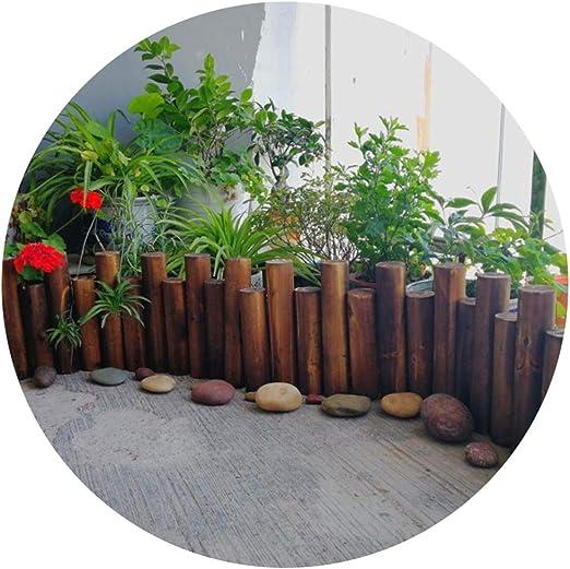 ZHANWEI Decorativo Valla de jardín Bordura de jardín Interior Al Aire Libre Patio Paisaje Cama De Flores Circulo Estacas De Madera, 9 Tamaños (Color : Brown, Size : 90x40/50cm): Amazon.es: Jardín