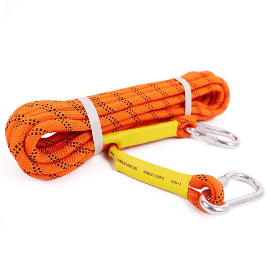 SCJ Cordes Corde d'escalade extérieure, Corde de sécurité de 10,5 8 mm, Corde de Rappel, Corde d'escalade, Corde d'évacuation de Corde de Nylon, 100m   80m   60m   50m   40m   30m   20m   10m 8mm-30m