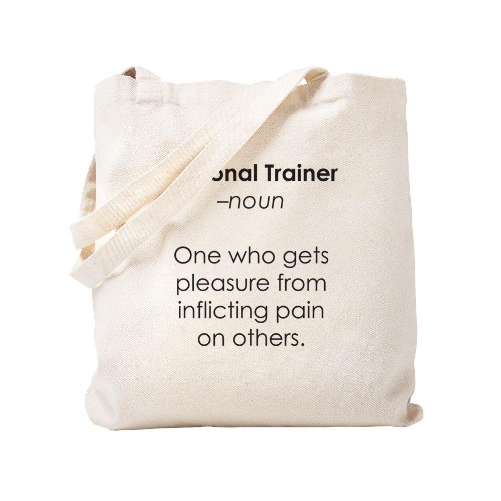 CafePress - Personal Trainer - Natural Canvas Tote Bag, Cloth Shopping Bag