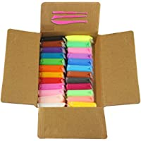 Tedemel Set of 24 Different Color Fluffy Foam Clay with Tools Assorted Color (24 Color Multi)