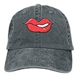 Sexy Lip Adult Cowboy Hat Baseball Cap Adjustable Athletic Personalised Custom Vintage Hat for Men and Women