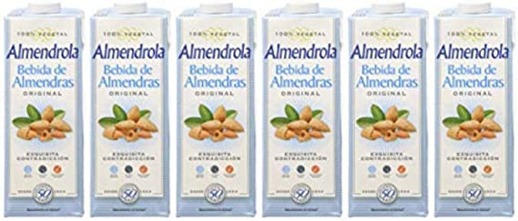 Almendrola - Bebida Vegetal de Almendras Original - Caja de 6 x 1L ...