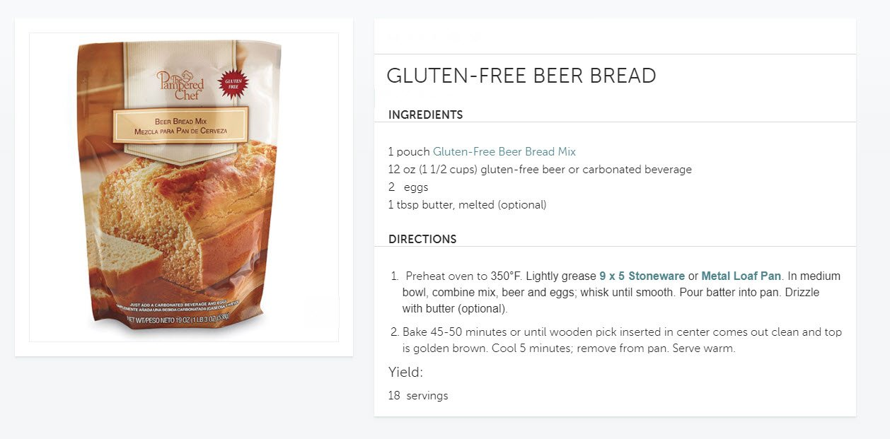 Amazon.com : Gluten Free Bread Mix Wheat-Free Beer Bread 19oz. Loaf : Grocery & Gourmet Food