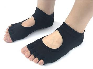 Yeying123 Medias De Yoga Calcetines Antideslizantes para Dedos Calcetines De Fitness para Equipos De Yoga Calzado
